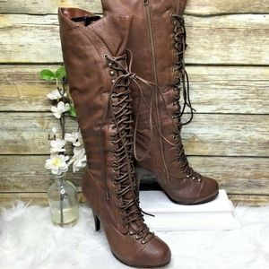 Bakers Stevie Brown Leather Knee High Boots